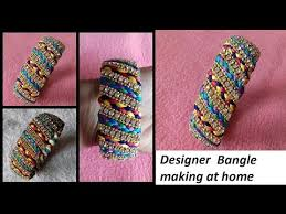 silk home diy how to make designer silk thread bridal bangles at home