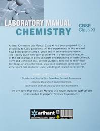 cbse laboratory manual chemistry class 11th experiments projects