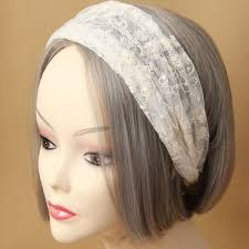 bungees hair hot sweet white lace stretch hair band flower bungee headband