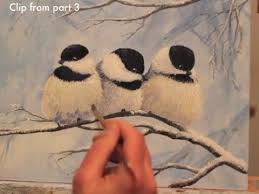 watercolor tutorial chickadee winter chickadees acrylic painting demonstration preview youtube