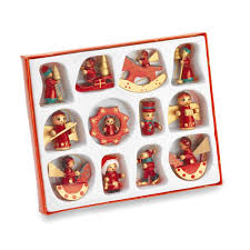 gisela graham box of 12 mini christmas tree decorations amazon co
