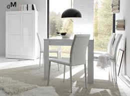 italian extendable dining table basic by lc mobili white