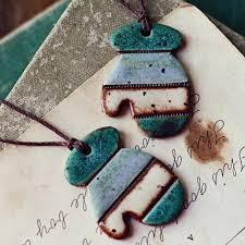 sale earthy mittens handmade ceramic ornaments 14 40