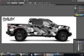 Ford F150 Truck Wraps - gorilla mad film wraps goes urban assault on a ford raptor