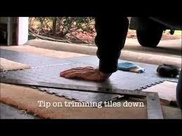 how to install garage floor tiles part 2