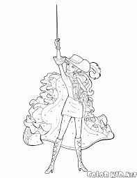 coloring page brave musketeer