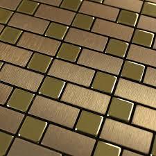 metallic tile wall stickers brushed interlocking mosaic tiles wall
