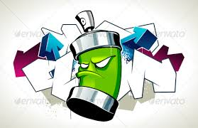 cool graffiti image with can by vecster graphicriver
