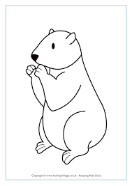 Groundhog Day Colouring Pages Groundhog Color Page