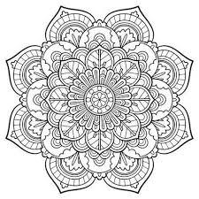 mandala coloring pages simple coloring mandala