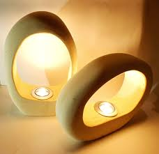 Designer Lamps Designer Lamps Made Of Lecce Stone Set Of Two Giotto Collection