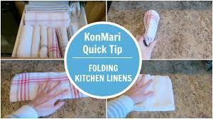 konmari tip folding kitchen linen youtube