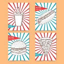 sketch fast food poster stock illustration image of banner 58108506
