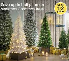 half price trees at wilko lights and decorations