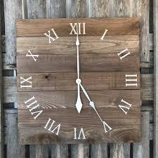 large wood wall large pallet clock rustic wall clock primitive wood clock wood