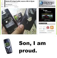 Funny Nokia Memes - 22ltb 683b likenokia x2 stops bullet saves a life in syriaby