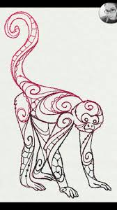 7 best monkey images on pinterest geometric animal tattoo ideas