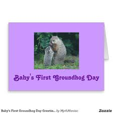 groundhog day cards baby s groundhog day card