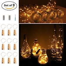 small lights for crafts amazon com 9 pack wine bottle string lights itart cork led battery
