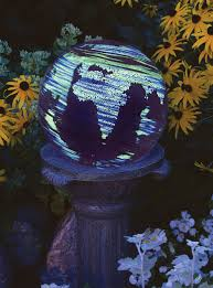 Glow In The Dark Gazing Ball Solar Products In The Garden State By State Gardening