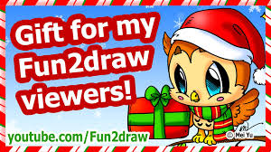 christmas gift for my fun2draw viewers how to draw a christmas