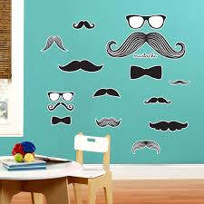 the halloween machine not just halloween costumes and accessories mustache giant wall decal