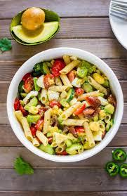 deviled egg pasta salad with avocado recipe chefdehome com