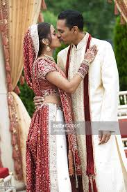 traditional wedding indian in traditional wedding clothing stock photo