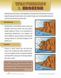 weathering and erosion worksheet education com