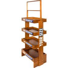 wood display customized wood display rack with wheels branded pop displays