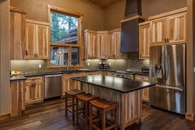 Black Rustic Kitchen Cabinets Rustic Hickory Kitchen Cabinets Kitchen Traditional With Hickory