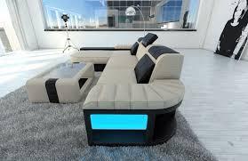 sofa bezugsstoffe mega sectional fabric sofa boston l with led