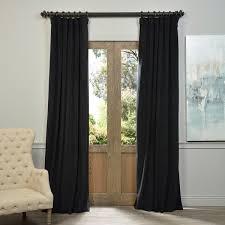 Black Out Curtain Panels Exclusive Fabrics Signature Warm Black Velvet Blackout Curtain
