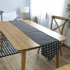black plaid table runner 30 x 180 cm