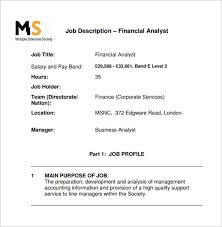 Business Analyst Job Resume by Analyst Job Description Example Of Financial Business Analyst Job