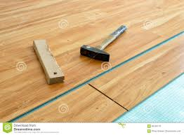 Laminate Floor Layers Laying Of Parquet Floor Stock Photo Image 86149178
