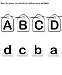 match letters match alphabets upper case and lower case