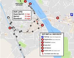 Run Map Sprint Triathlone 2018