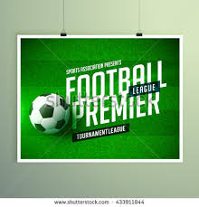 soccer league flyer design sports invitation imagem vetorial de