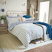 nautical themed bedding joules sea ditsy blue striped bed linen
