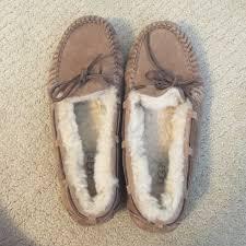 ugg s dakota moccasins sale ugg worn ugg dakota slippers in chestnut from s closet on
