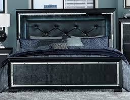 homelegance allura bedroom set with led lighting black b1916bk homelegance allura bed with led lighting black