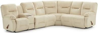 best home furnishings brinley 2 casual reclining sectional sofa