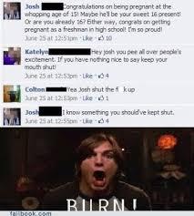 Teen Pregnancy Memes - failbook teen pregnancy funny facebook fails failing on