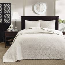 king size coverlets and quilts com madison park quebec 3 piece bedspread set king ivory