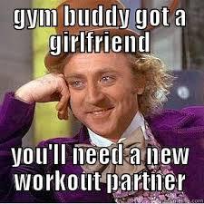 Workout Partner Meme - funny gym partner memes page 2 memeologist com