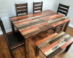 Distressed Table Etsy - Distressed kitchen tables