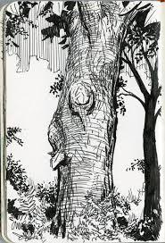 ballpoint sketch landscape google search treescapes
