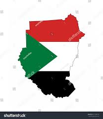 Old Sudan Flag Sudan Country Flag Map Shape National Stock Illustration 271589129