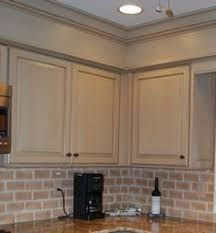 kitchen soffit ideas if the drop ceilings above cabinets cannot be removed or